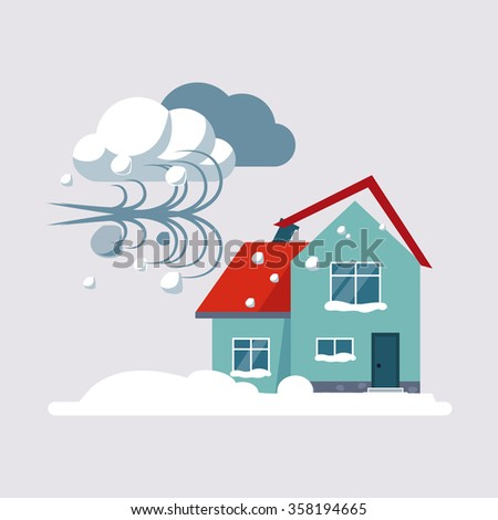 Hurricane Insurance Colourful Vector Illustration flat style