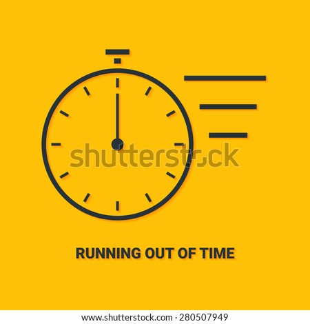 Hurry up concept. Running out of time - stock vector