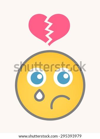 Hurt - Cartoon Smiley Vector Face - stock vector