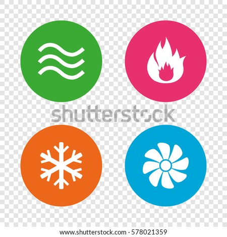 Hvac Icons Heating Ventilating Air Conditioning Stock ...