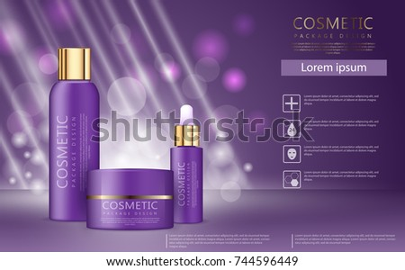 Glamorous Face Beauty Care Products Packages Stock Vector ... - photo#41
