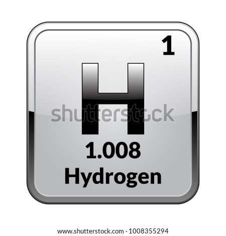 Hydrogen Symbol Chemical Element Periodic Table On Stock Vector