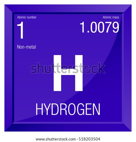 Hydrogen symbol element number 1 periodic stock vector 518203504 hydrogen symbol element number 1 of the periodic table of the elements chemistry urtaz Choice Image