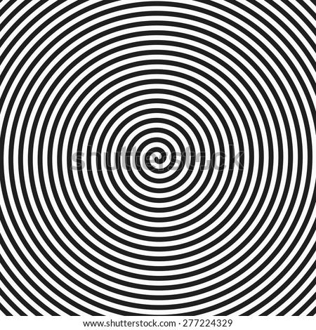 Hypnosis spiral background. Vector. - stock vector