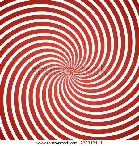 Hypnosis Spiral Design. Concept for hypnosis, unconscious, chaos, extra sensory perception, psychic, stress, strain, optical illusion, headache, migraine. Vector illustration. - stock vector
