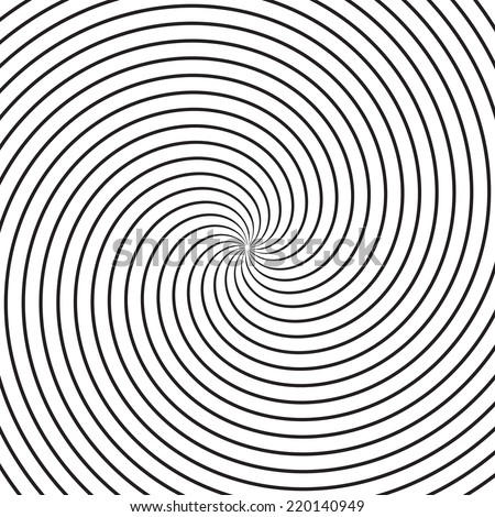 Hypnosis Spiral Design Pattern . Psychedelic Concept . Twisted Background . Vector illustration .  - stock vector