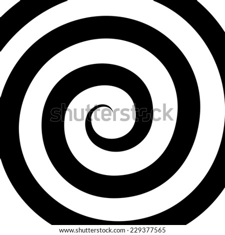 Hypnosis Spiral Pattern. Optical illusion. Vector illustration - stock vector