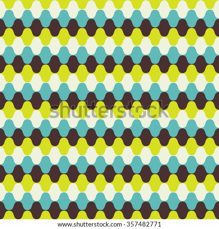 Hypnotic Seamless Pattern Background. Vector Illustration - stock vector