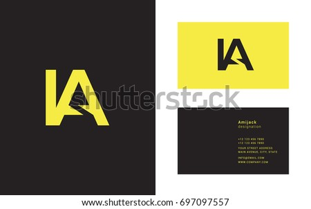 Joint logo letter design business card stock vector hd royalty free i a joint logo letter design with business card template thecheapjerseys Image collections