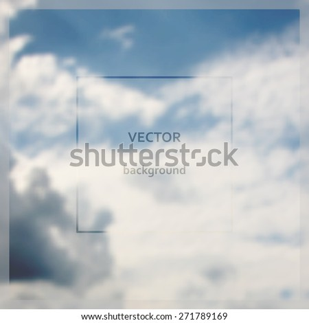 I believe I can Fly lettering on abstract blurry sky background. Vector illustration - stock vector