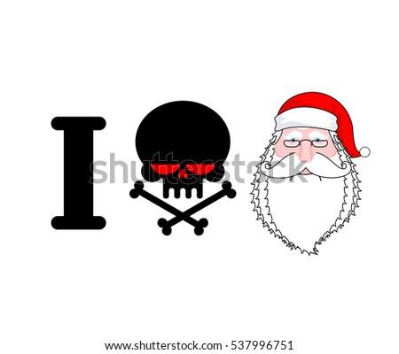 Hate Santa Skull Bones Symbol Hatred Stock Vector Royalty Free