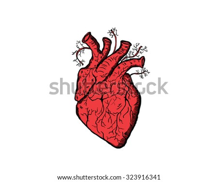 Heart You Love You Scary Bloody Stock Vector Royalty Free