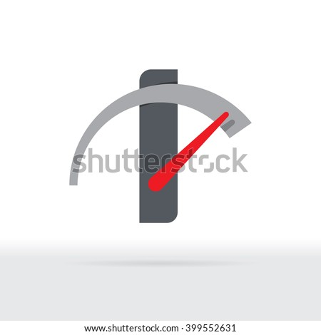 I Letter Car Speedometer, B Letter Meter Logo - stock vector