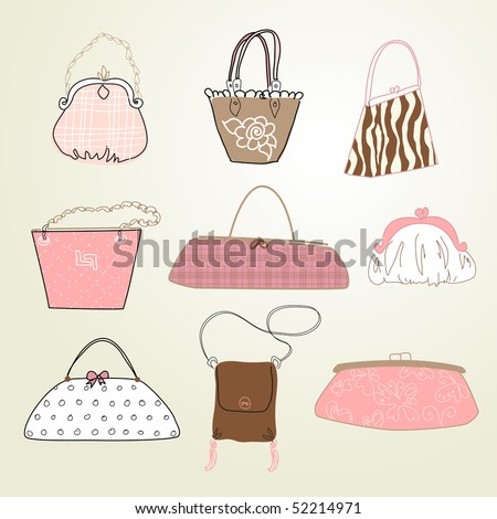 I Love Bags - stock vector