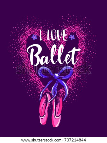 Love ballet cute girlish wallpaper on stock vector hd royalty free love ballet cute girlish wallpaper on stock vector hd royalty free 737214844 shutterstock voltagebd