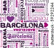 i love Barcelona seamless background pattern in vector - stock vector