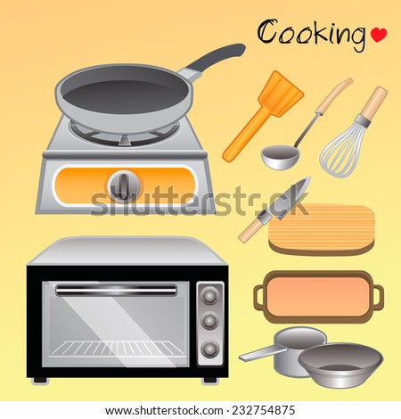 I love cooking - stock vector