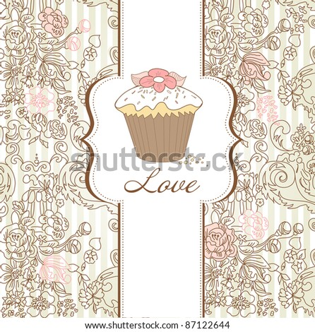 I Love Cupcakes! - stock vector