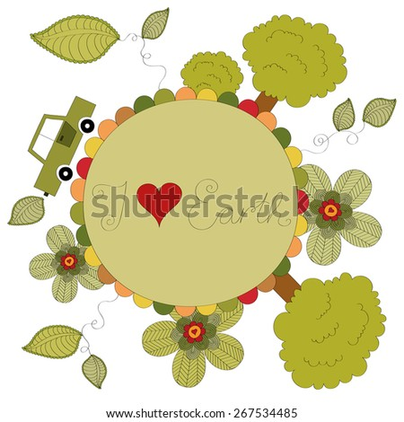 I love Earth vector illustration  - stock vector