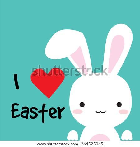 I love Easter for card,poster or background, illustration design. - stock vector