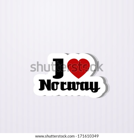I love Norway - stock vector