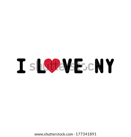 I Love Ny Letter For Design And Decoration