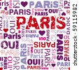 I love Paris french background seamless pattern in vector - stock vector