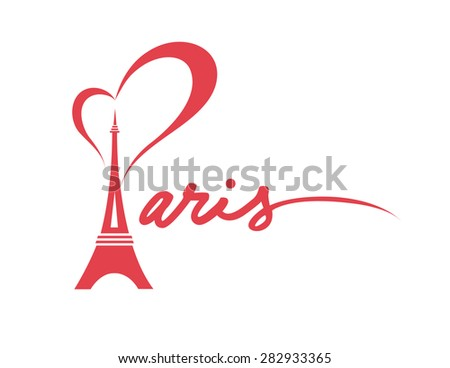 I Love Paris - Vector Graphic - stock vector