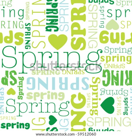 I love spring seamless background pattern in vector - stock vector