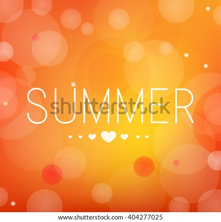 I love Summer - stock vector