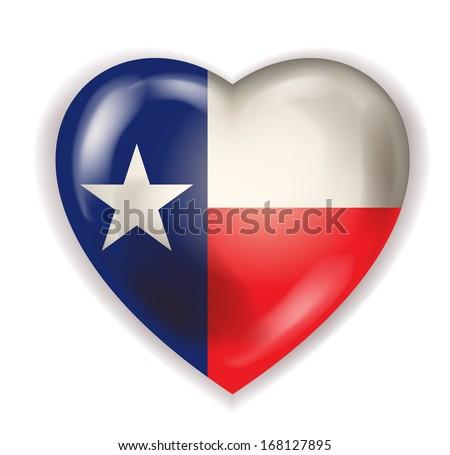 I Love Texas vector - stock vector