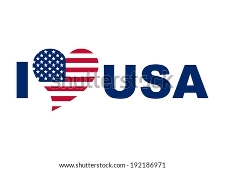I love USA concept in vector illustration - stock vector