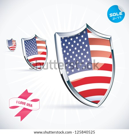I Love USA Flag Illustration, Sign, Symbol, Button, Badge, Icon, Logo for Family, Baby, Children, Teenager, People