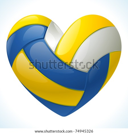 I love volleyball - stock vector