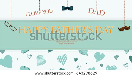 Happy mothers day concept handdrawn motivation stock vector i love you dad happy fathers day concept template for flyer banner pronofoot35fo Images