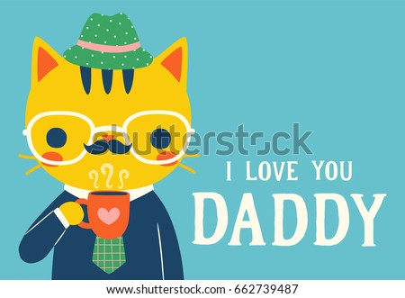 Love you daddy happy birthday card stock vector 662739487 love you daddy happy birthday card stock vector 662739487 shutterstock bookmarktalkfo Images