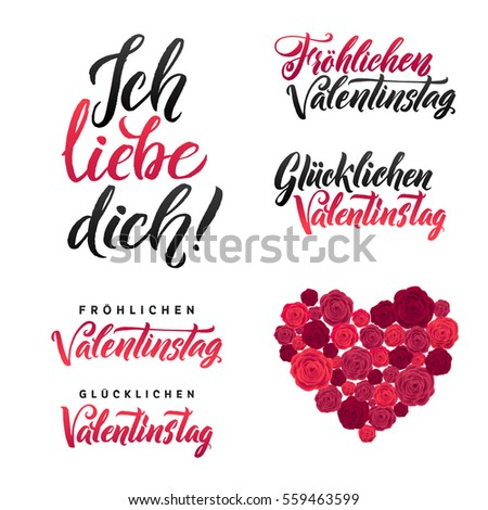 From Germany With Love Vectors Images Vector Art – German Valentines Day Cards