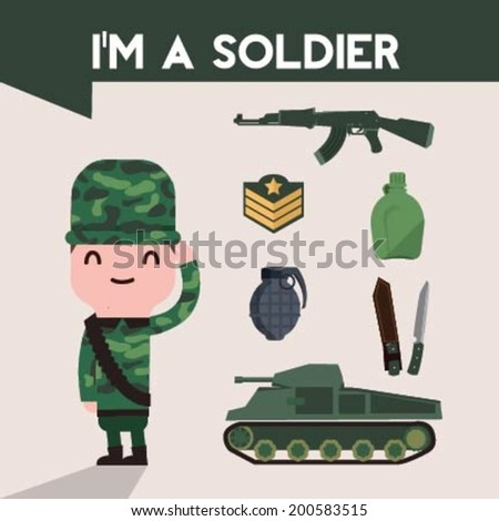 I�m soldier (with soldier  elements and icons)