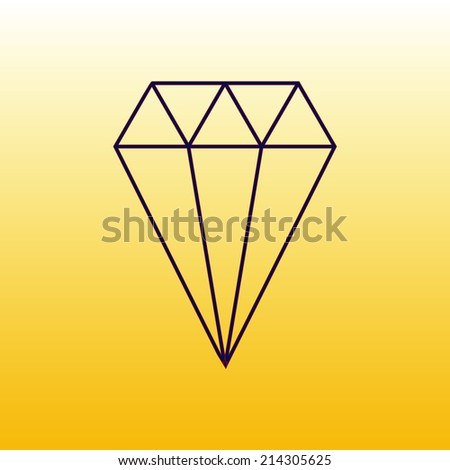 iamond icon, vector illustration. Flat design style