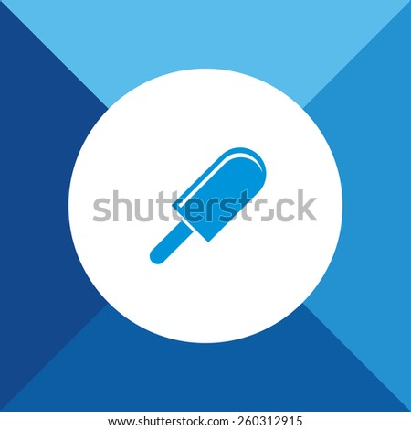 Ice Candy Icon on Blue Background. Eps-10. - stock vector