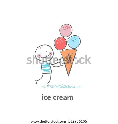 ice cream - stock vector