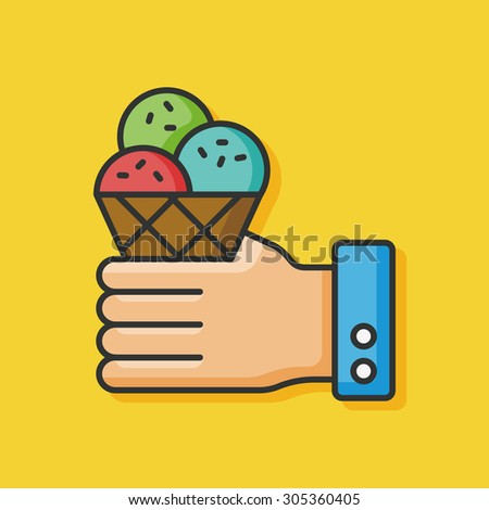ice cream color line icon