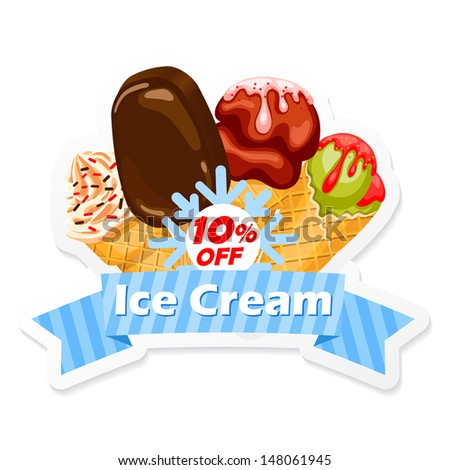 Ice Cream emblem - stock vector