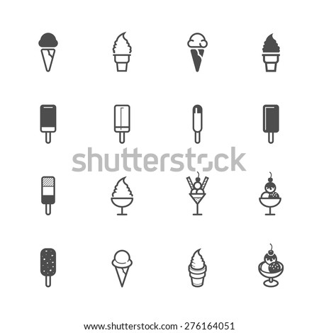 Ice cream Icons - stock vector