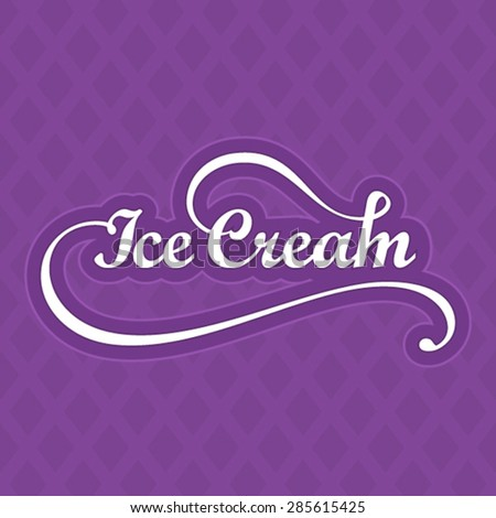 Ice cream logo template - stock vector