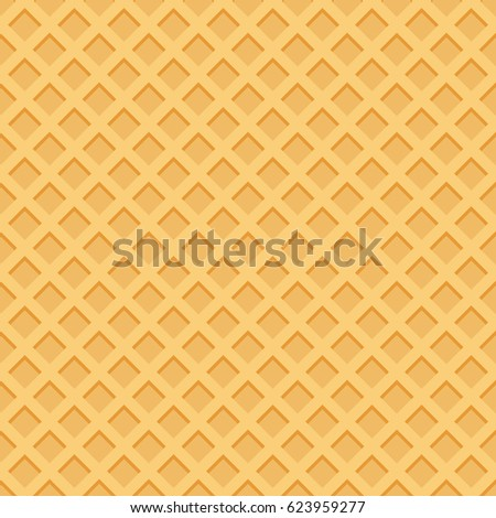 Ice Cream Pattern Waffle Texture Vector Stock Vector ...