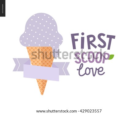 ice cream square postcards 8 postcards stock vector 429023557