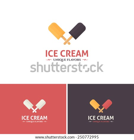 Ice Cream Vector Icons, Logos, Sign, Symbol Template  - stock vector