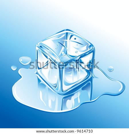 ice cube - stock vector