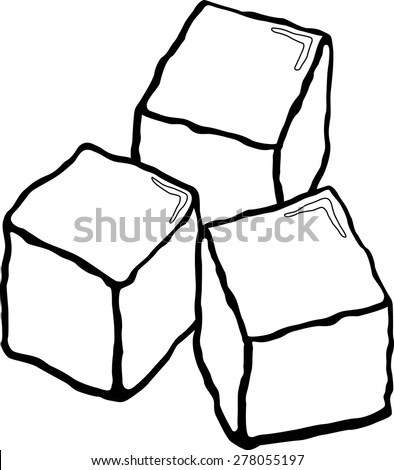ice cubes stock vector 278055197 shutterstock rh shutterstock com ice cubes clipart black and white ice cube clipart